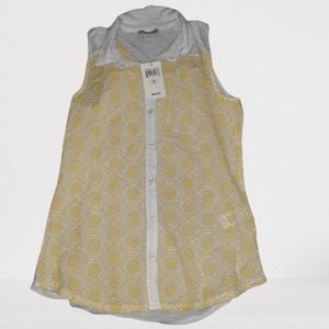Lucky Brand Collared Tank Top